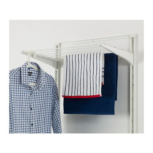 Algot drying rack white wall mount laundry and storage for Ikea rack mount