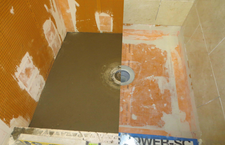 Schluter systems bathroom start to finish, Part 3 installing shower ...