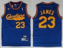 43b0de96e3d5 Cleveland Cavaliers 23 LeBron James Blue Throwback NBA Jerseys Wholesale  Cheap