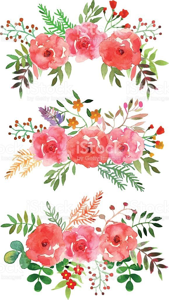 Beautiful Floral Watercolor Frame Watercolor Floral Hand
