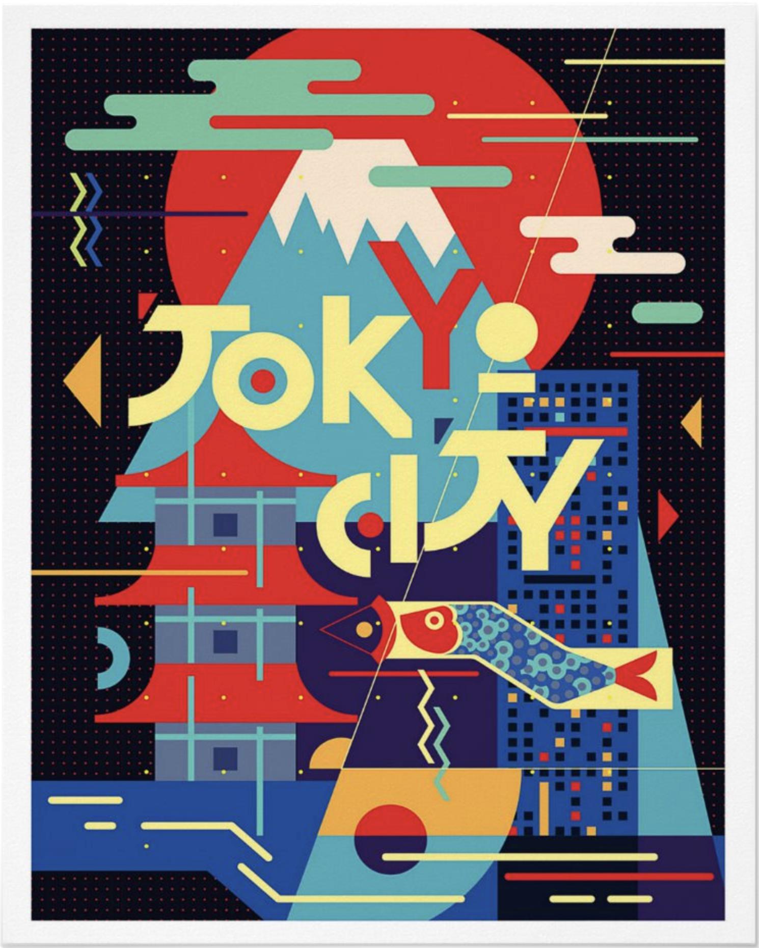 Tokyo Graphic Vintage Illustration Poster In 2020 Graphic Design Posters Japanese Graphic Design Graphic Poster
