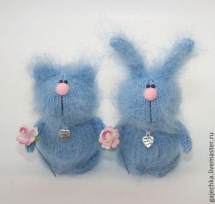 Голубые зайчики и котики | Шапочка, Мягкие игрушки, Кролик ...