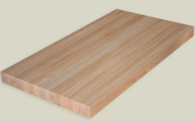 29 X 108 Ash Butcher Block Countertop With Acrylic Urethane
