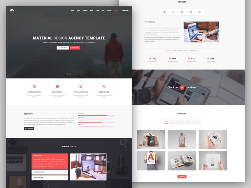 Matx Material Design Agency Template