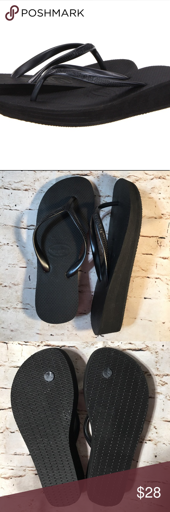 61cbfdb01ebe Havaianas Highlight Wedge Flip Flop Black Sandals Step up your flip flop  game in these High