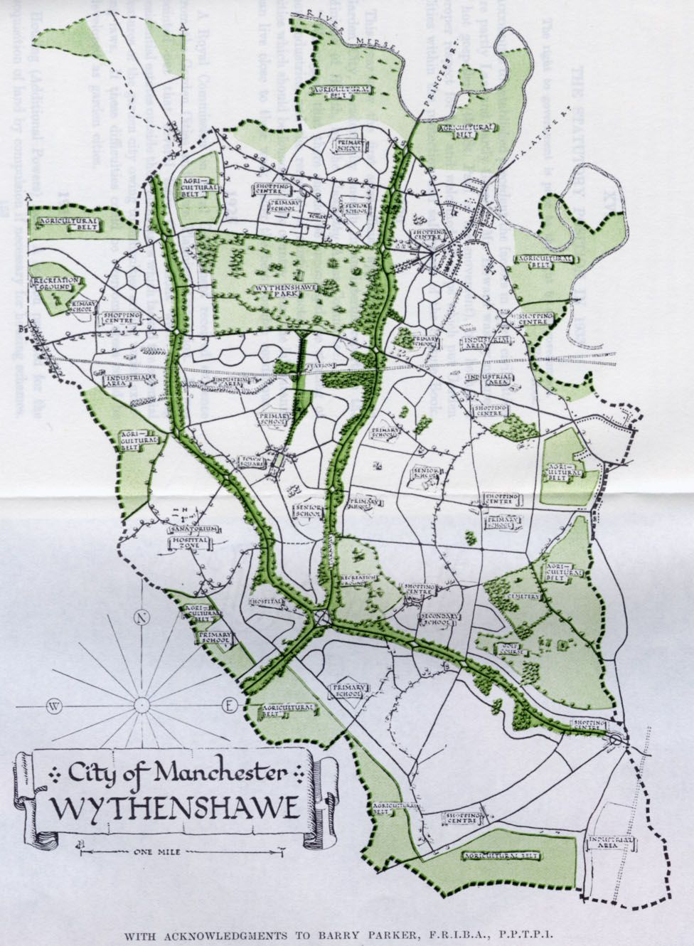Manchester World Map.The Wythenshawe Estate Manchester The World Of The Future