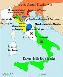 Map Of Germany Before Unification.Before Italian Unification 1861 History Pinterest Italy