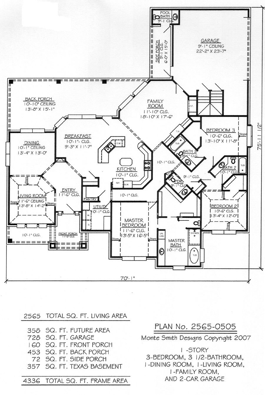 1 story 3 bedroom 3 1 2 bathroom 1 dining room 1 House floor plans without garage