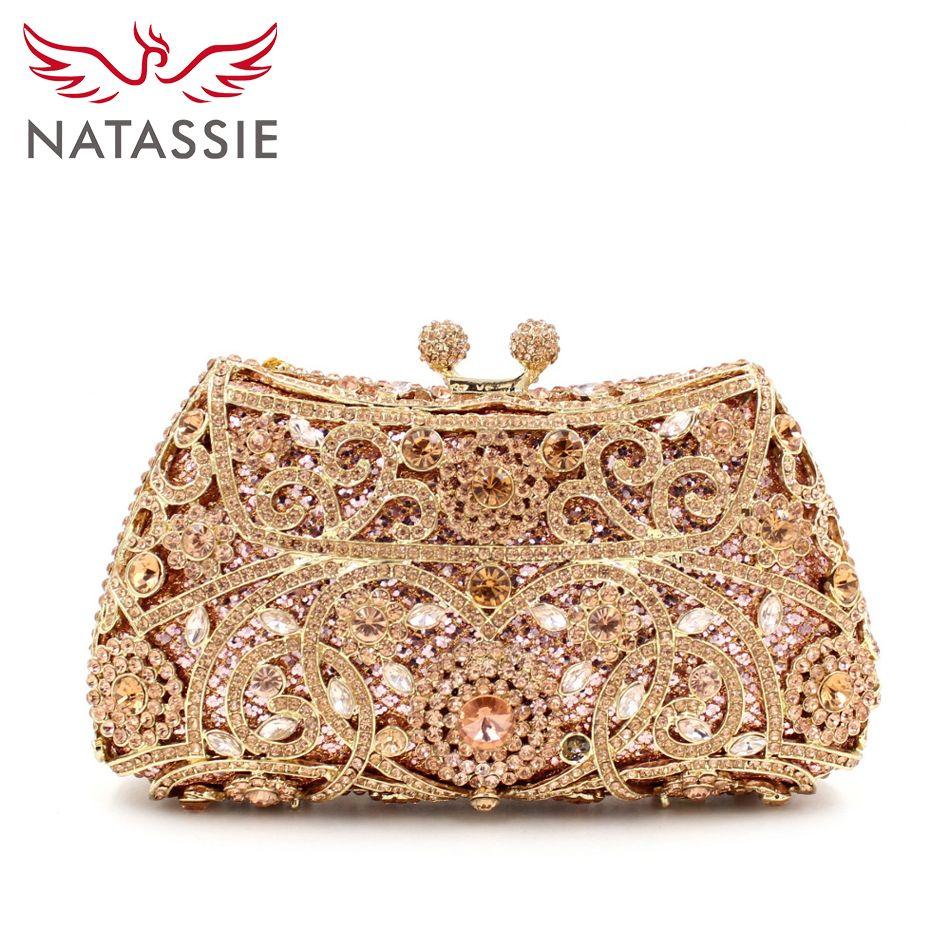 0e0521244 Barato Natassie noite sacos de festa de casamento das senhoras saco de  embreagem ouro cristal diamantes mulheres bolsas, Compro Qualidade Bolsas  para noite ...