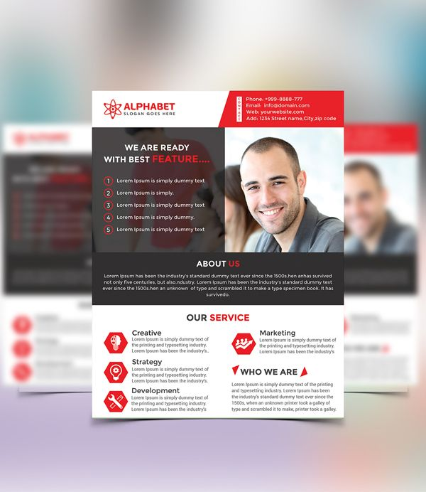 Free Corporate Business Flyer Psd Template Freebies Pinterest