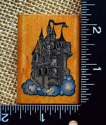 Comotion Castle in Clouds Fantasy Magic Scene Builder Rubber Stamp | eBay