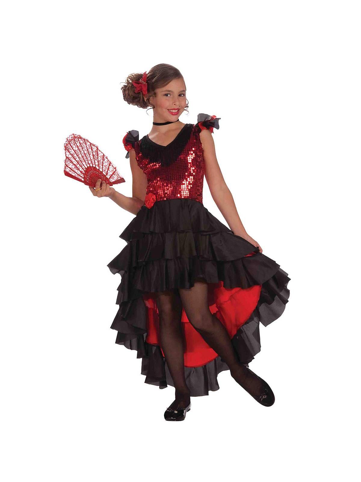 Designer Spanish Dancer Girls Costume