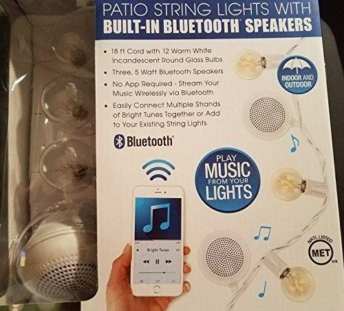 Bluetooth Speaker String Lights Patio String Lights With Builtin Bluetooth Speakers  Outdoor