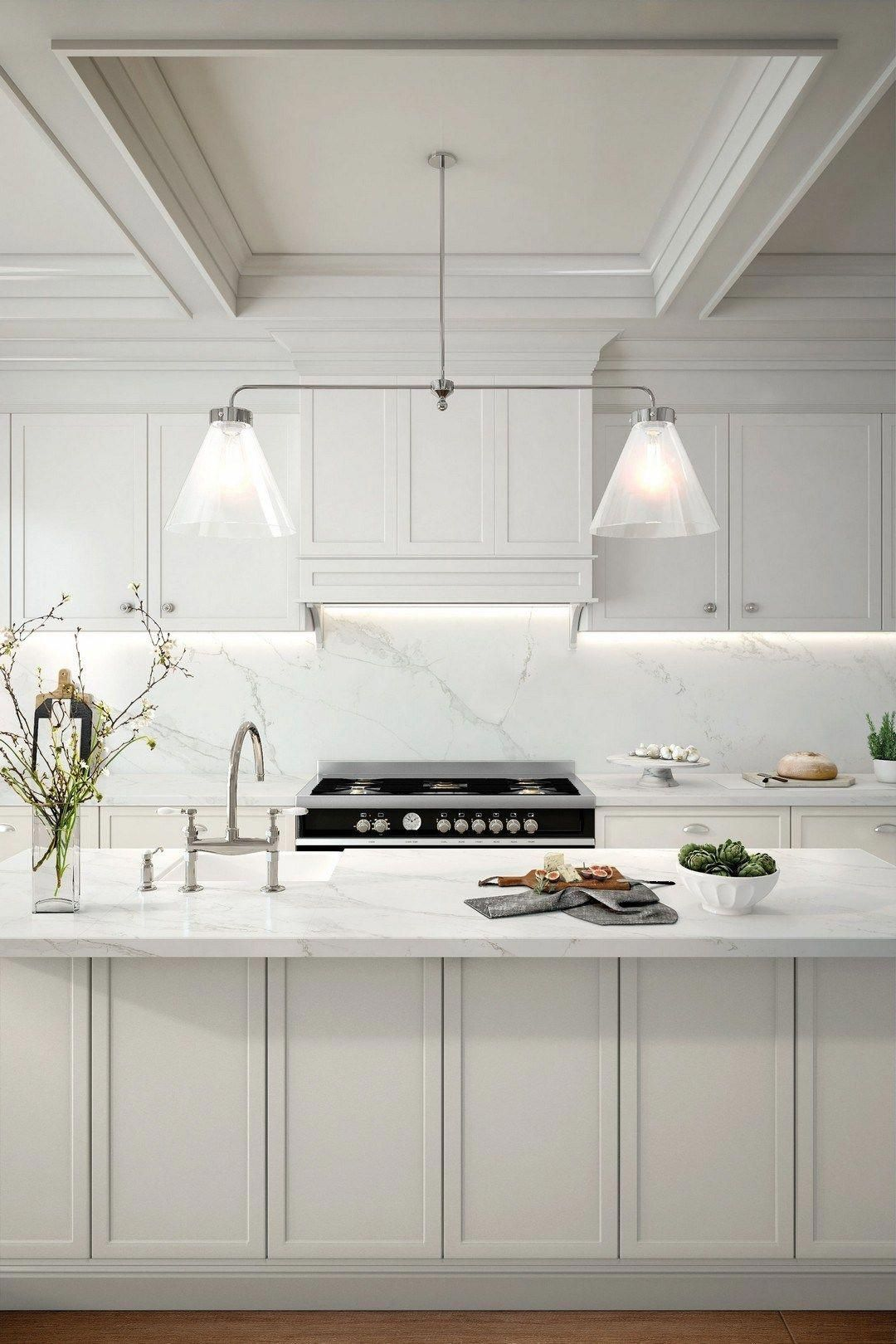 40 Exciting Small Modern Kitchen Design Ideas 15 Kitchendecorpad Kitchenremodels Modern Kitchen Design Small Modern Kitchens Grey Marble Kitchen