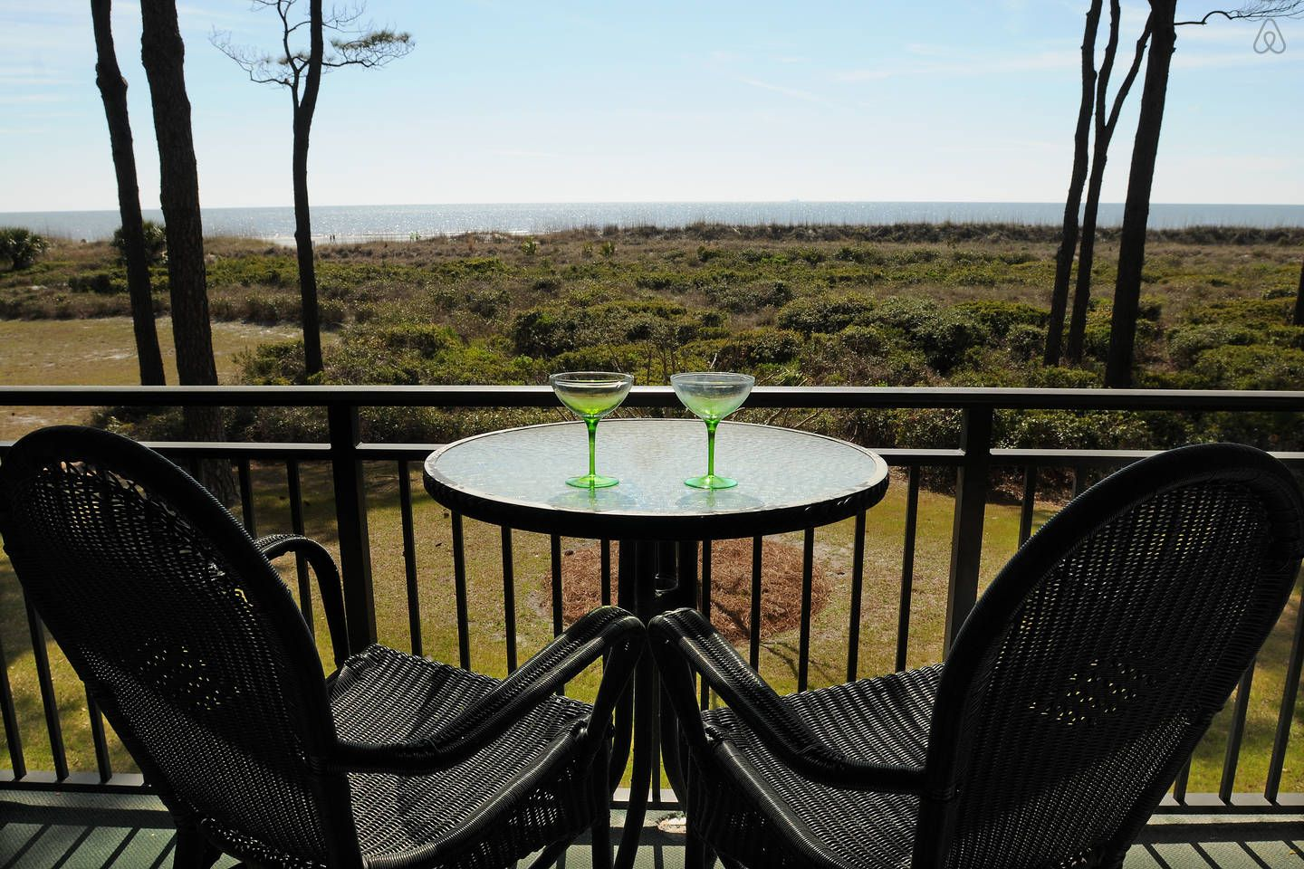 Direct oceanfront in forest beach vacation rental in