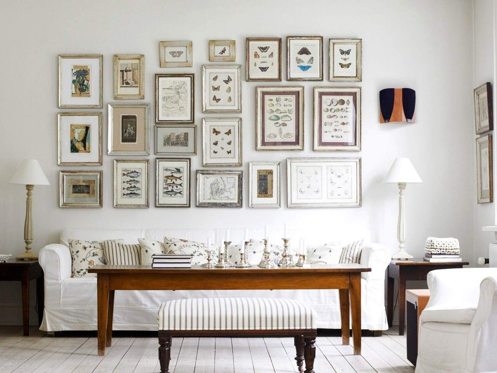Cool white decor with warm wood tones and an eyepleasing display of