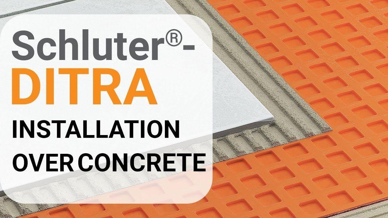 Schluter Ditra Installation Over Concrete Youtube In 2020 Installation Membrane