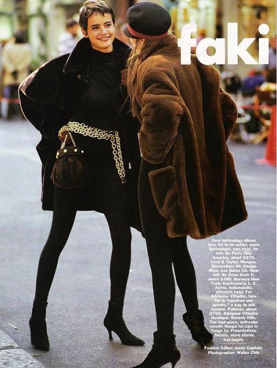 Nadege & Meghan D.  in Vogue 1990
