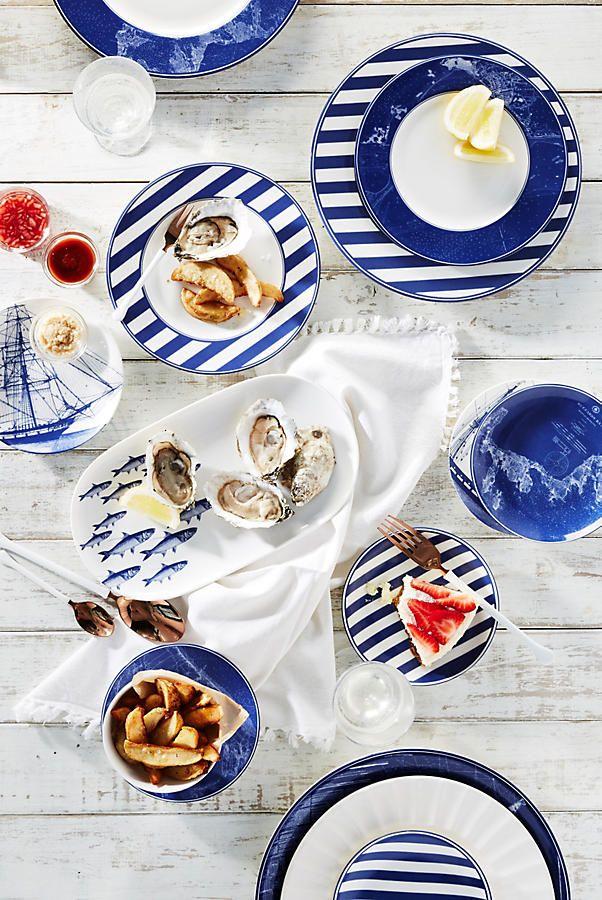 Caskata Rigging Blue Canape Plate Set  sc 1 st  Pinterest & Caskata Rigging Blue Canape Plate Set | Fish platter Cutlery and Towels