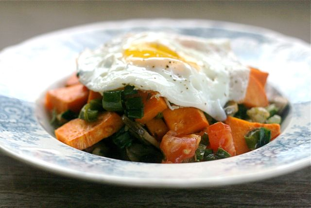 farm fresh sweet potato hash for brunch anyone?