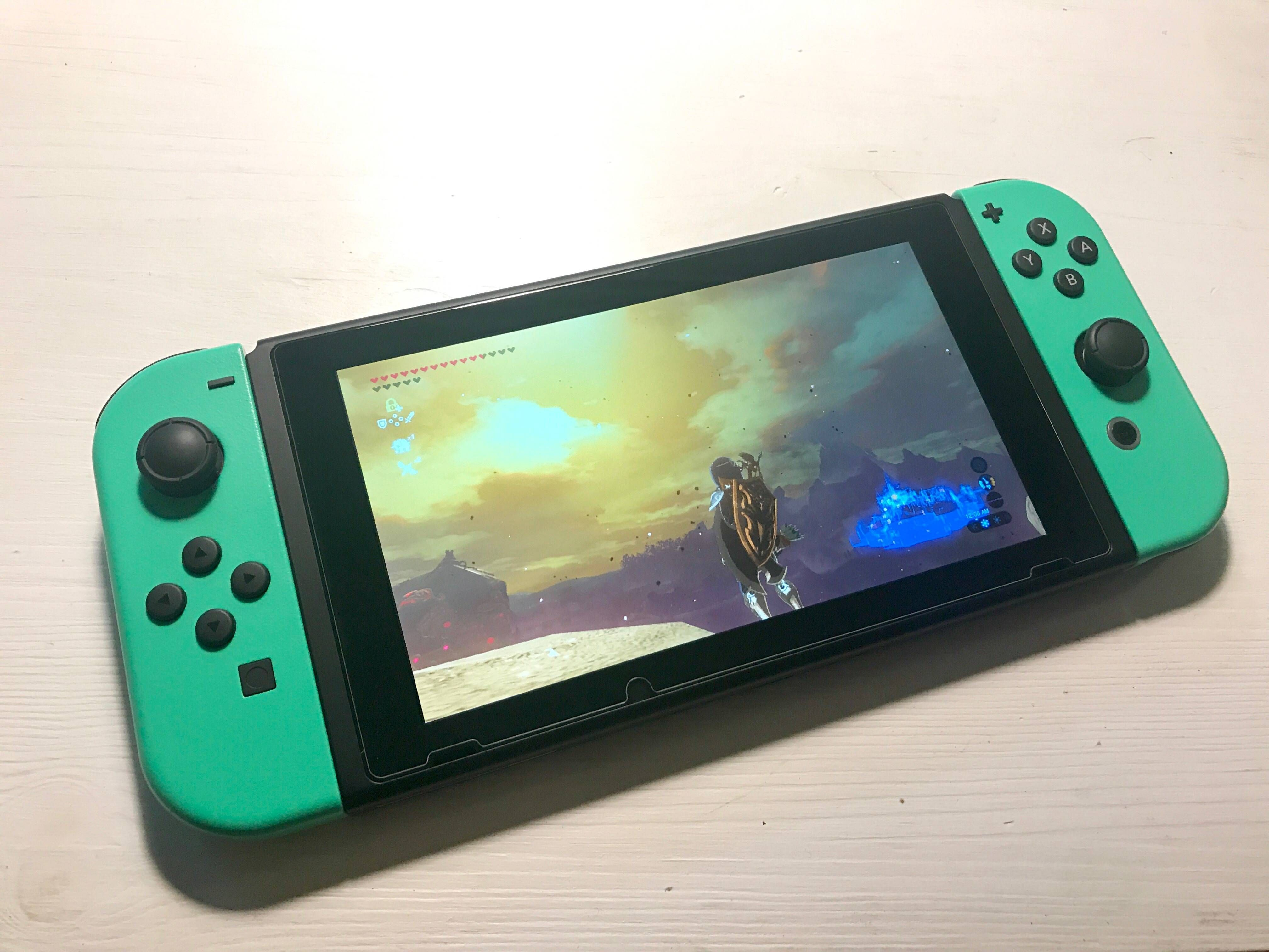 My mint green joy-cons - haven't seen this color posted yet