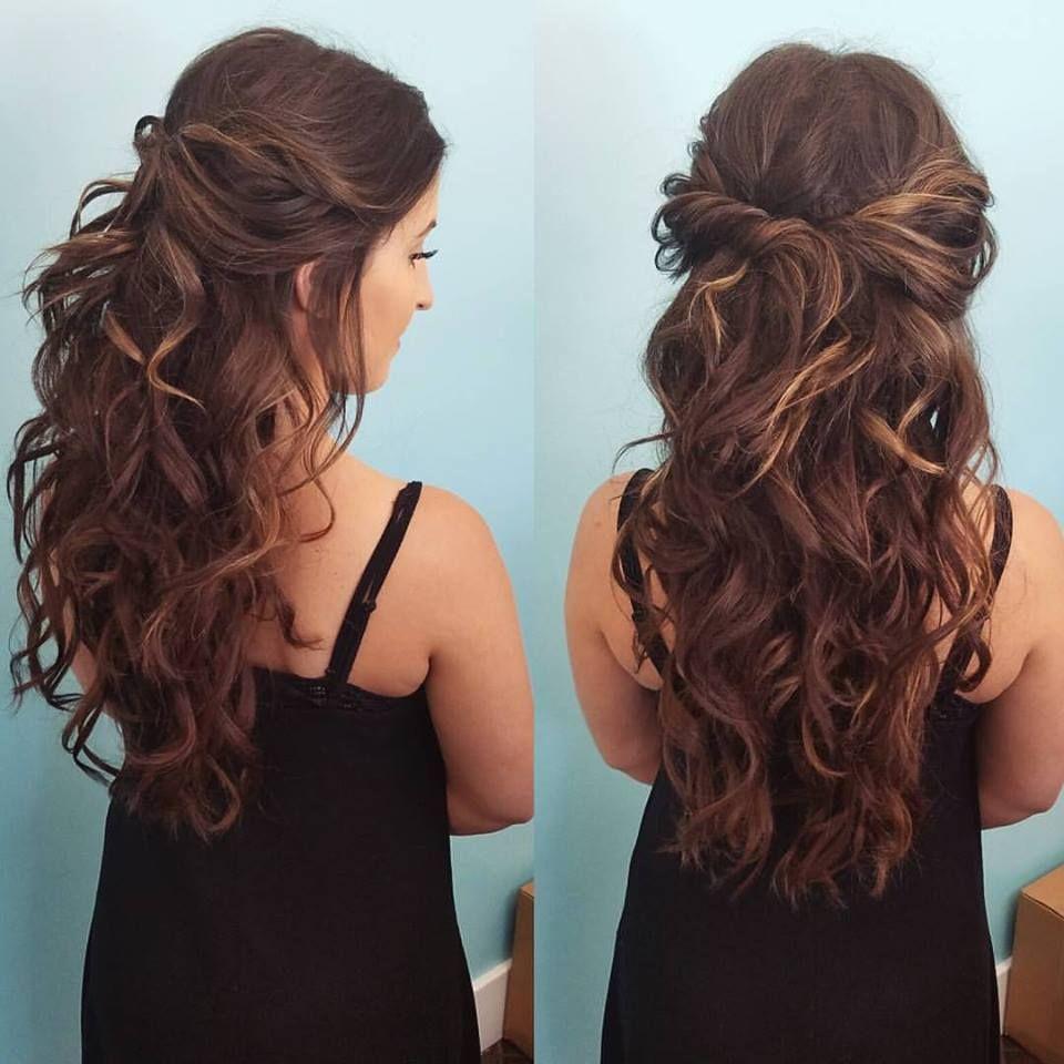 Half up half down by our stylist Zenaida beautybyzenaida
