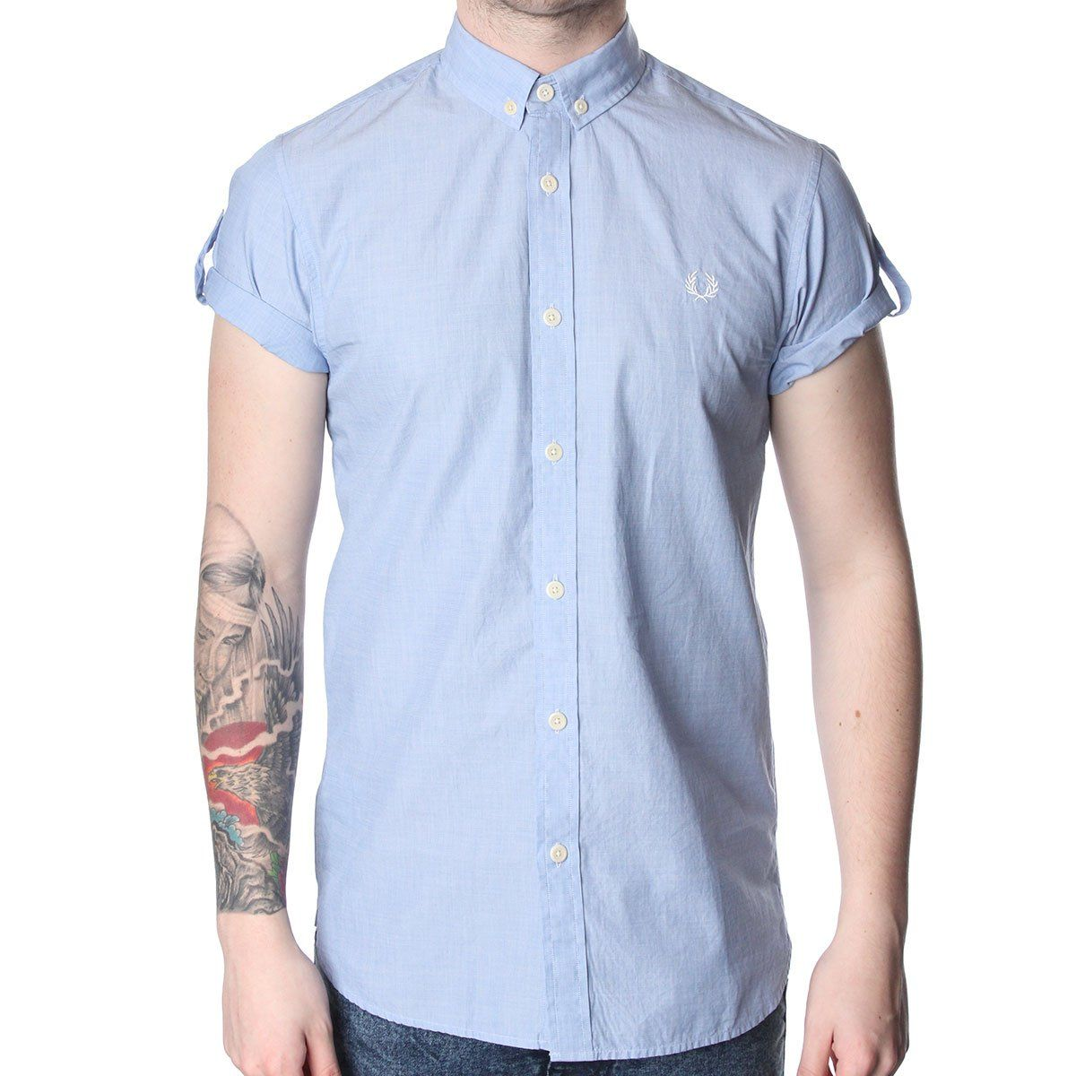 Fred Perry M2316 Tipped End On End Shirt. Shop now at http://