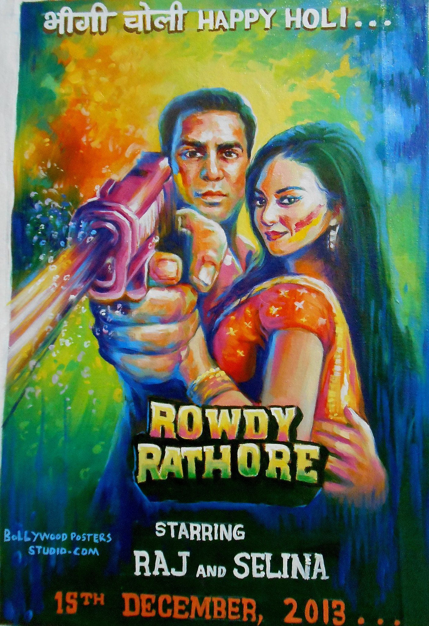 hand painted wedding posters of indian movie bollywood