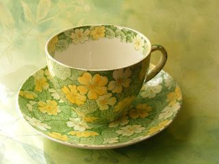 Bourne and Leigh of Burslem Primrose. The Chintz Tea Cup