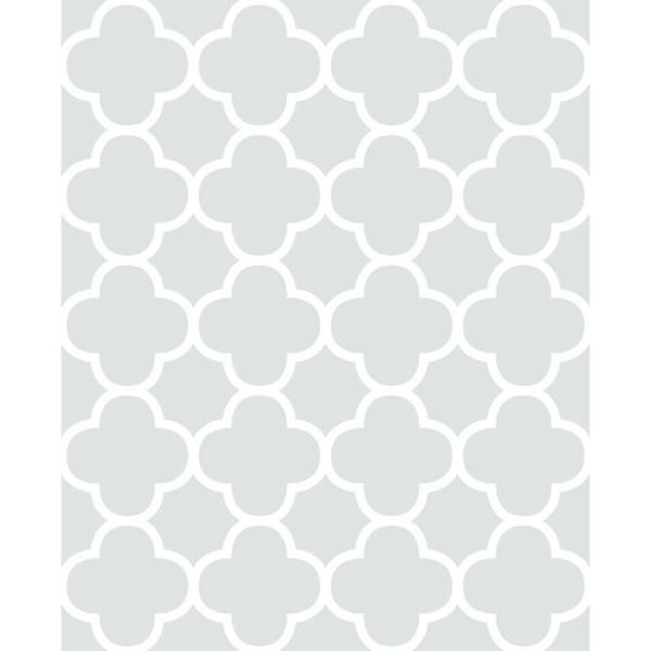 A Street Origin Mint Quatrefoil Wallpaper Green