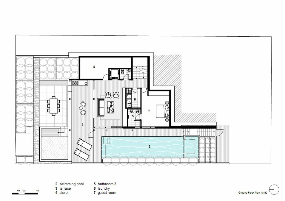 Ground floor plan vaucluse house in sydney australia by for Open plan house designs australia