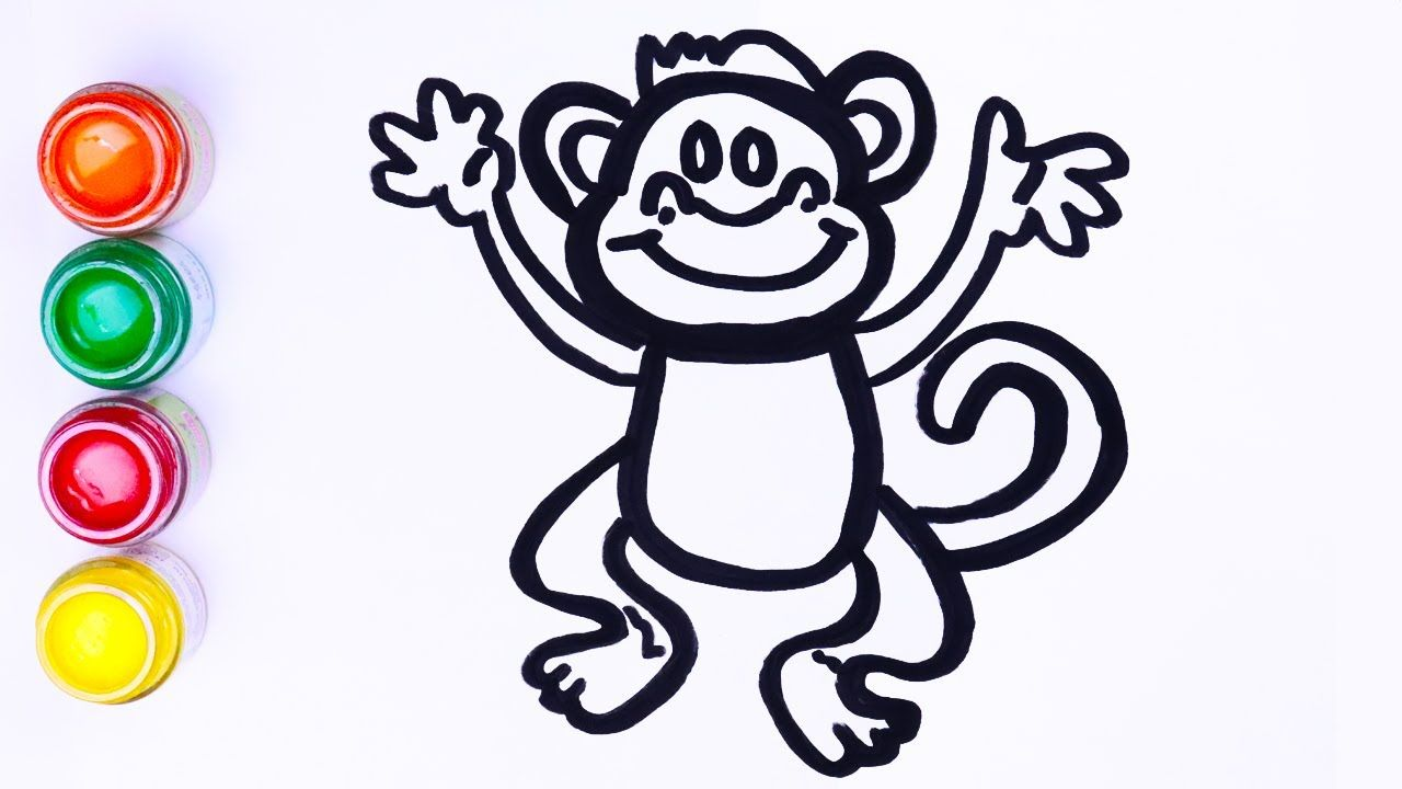 Menggambar Monyet Anak Anak Lukisan Balita Tuttut Toy Art