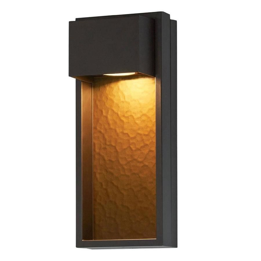 Portfolio 15 9 In H Bronze Dark Sky Led Outdoor Wall Light Energy Star Lowes Com Outdoor Wall Lighting Contemporary Outdoor Wall Lights Led Outdoor Wall Lights