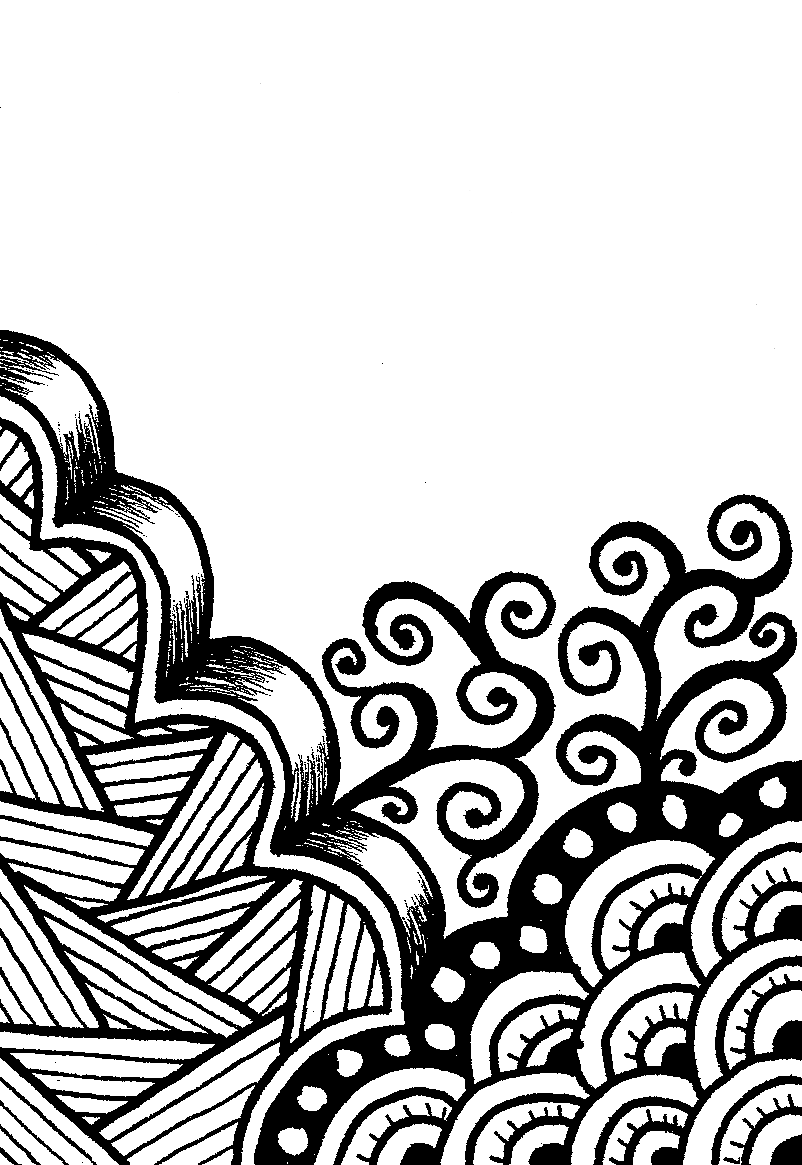 Creative Crafting How To Zen Doodle Note Start Simple With Big Things And Borders