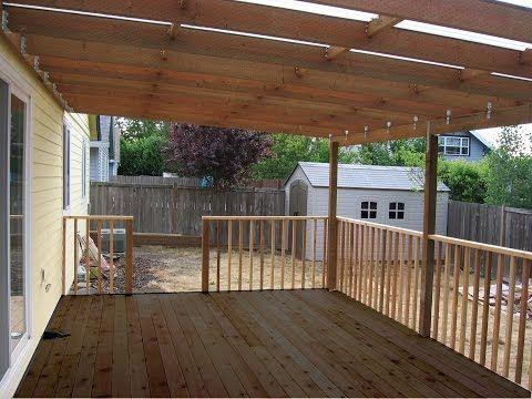 Building A Patio Deck Cover Youtube Diy Patio Cover Building A Patio Outdoor Living Deck