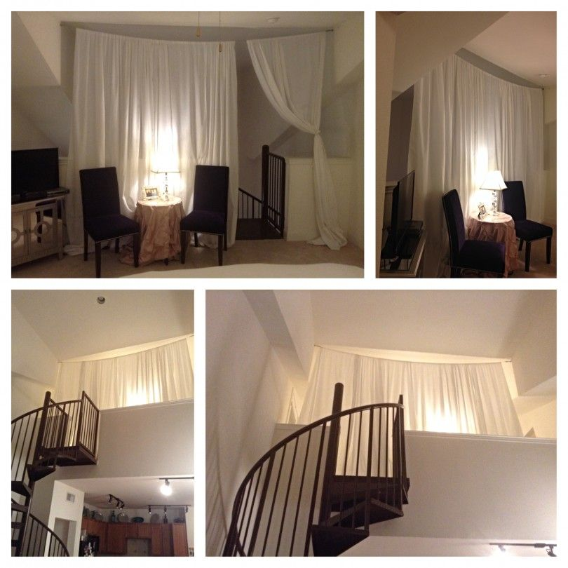 Need Privacy For Your Loft? Create Curtains Like Our