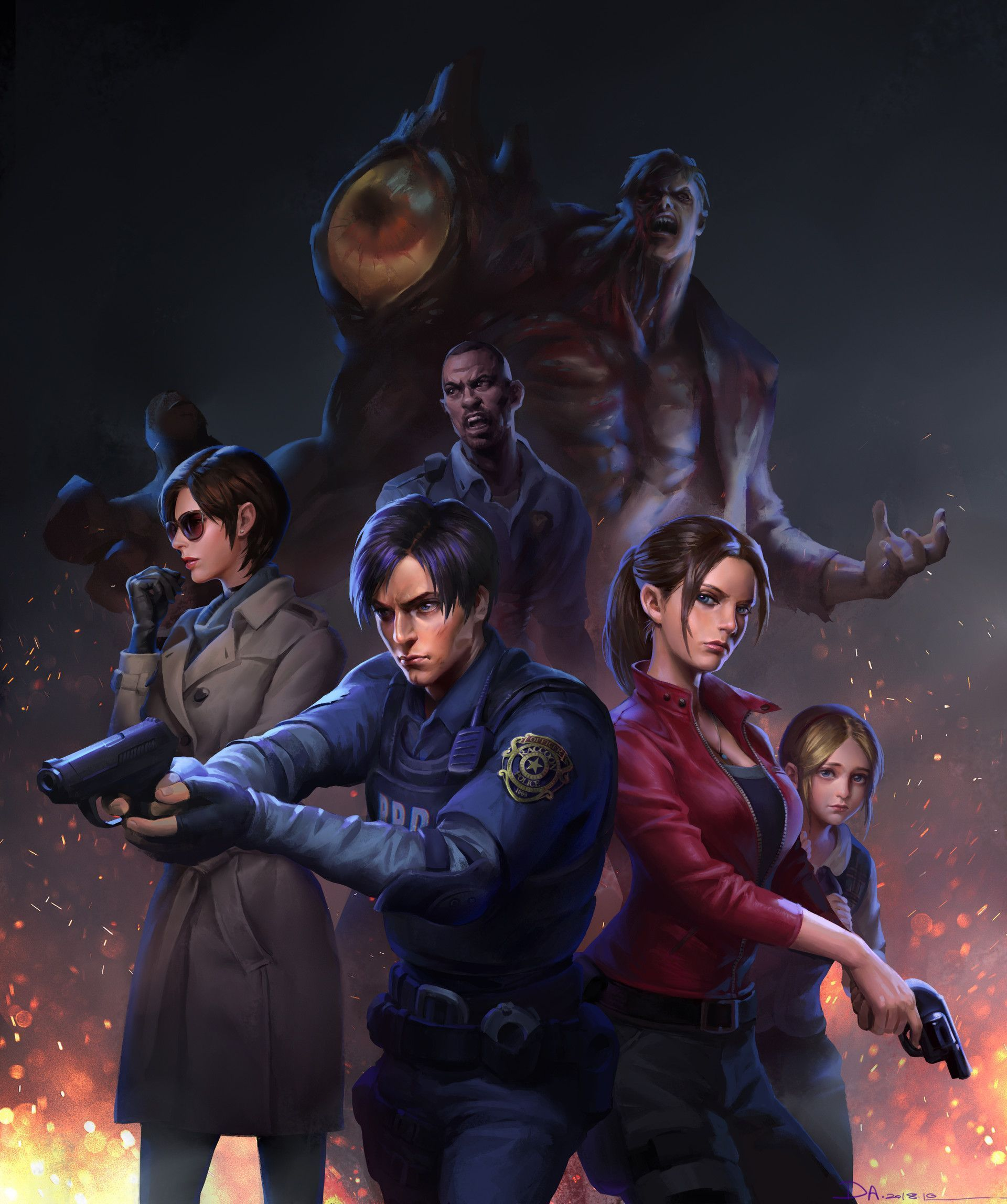 Create Your Own Hand Drawn Portrait Resident Evil Anime Resident Evil Leon Resident Evil 1 Remake