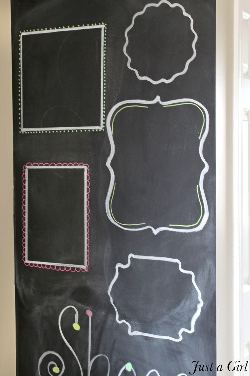 chalkboard wall frames - Diy Chalkboard Frame
