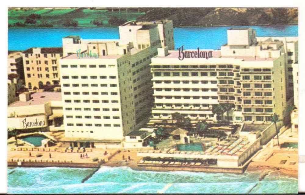 Undated Unused Postcard The Barcelona Hotel Miami Beach Florida Fl