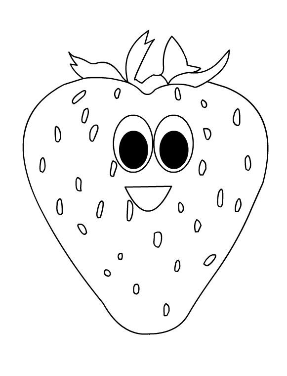 Cartoon Fruits Coloring Pages Meyve Boyama Kitaplari Boyama