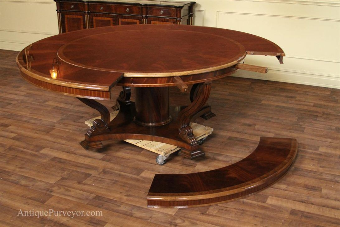 Round Dining Room Tables With Leaves Round Dining Large Round