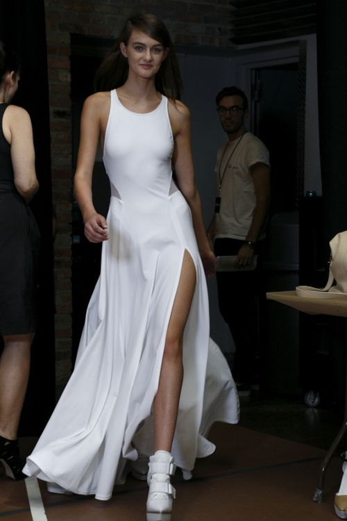 Giving the left leg some credit this time    #DKNY #Spring2013