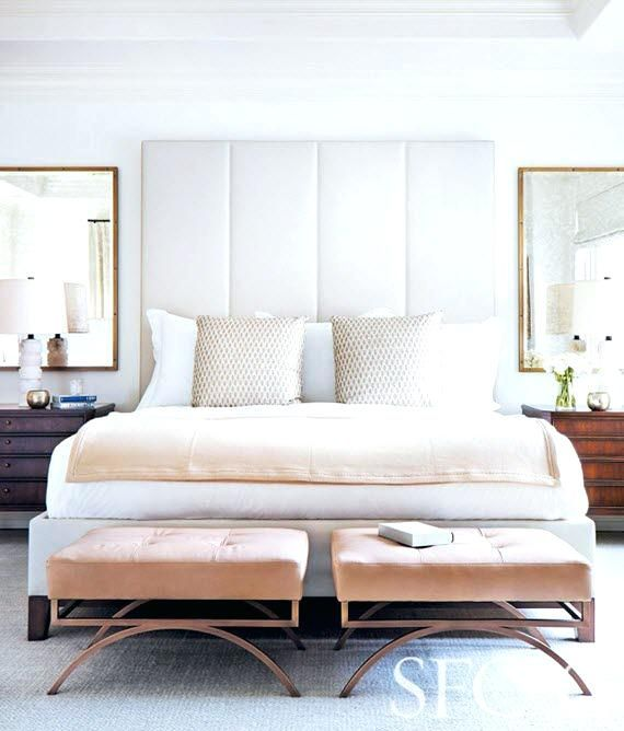 Elegant Bed In Love With Pink Velvet Benches End Of Bed ...