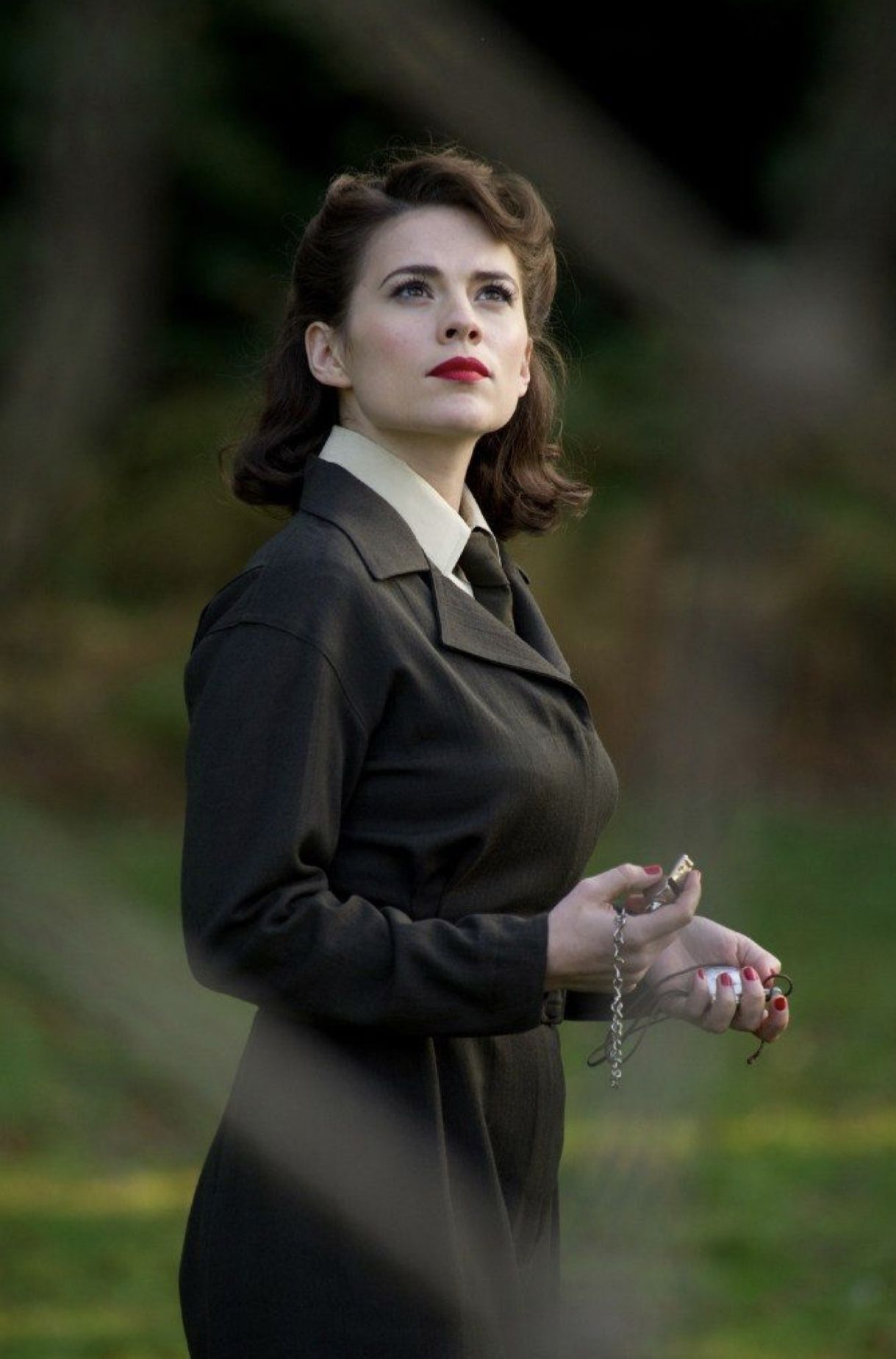 Hayley Atwell as Peggy Carter in a still from Captain America