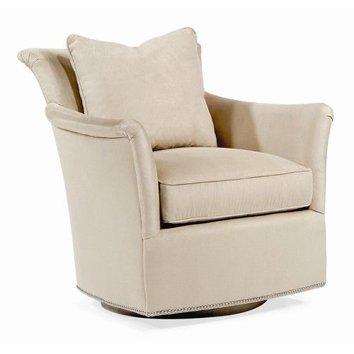 Elegance Contemporary Swivel Chair With Flair Arms By Century