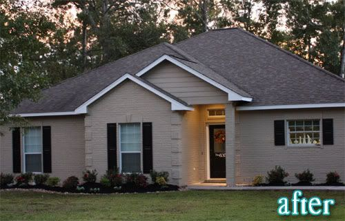 The Knot Your Personal Wedding Planner Brick Exterior House Brick House Exterior Makeover Painted Brick House