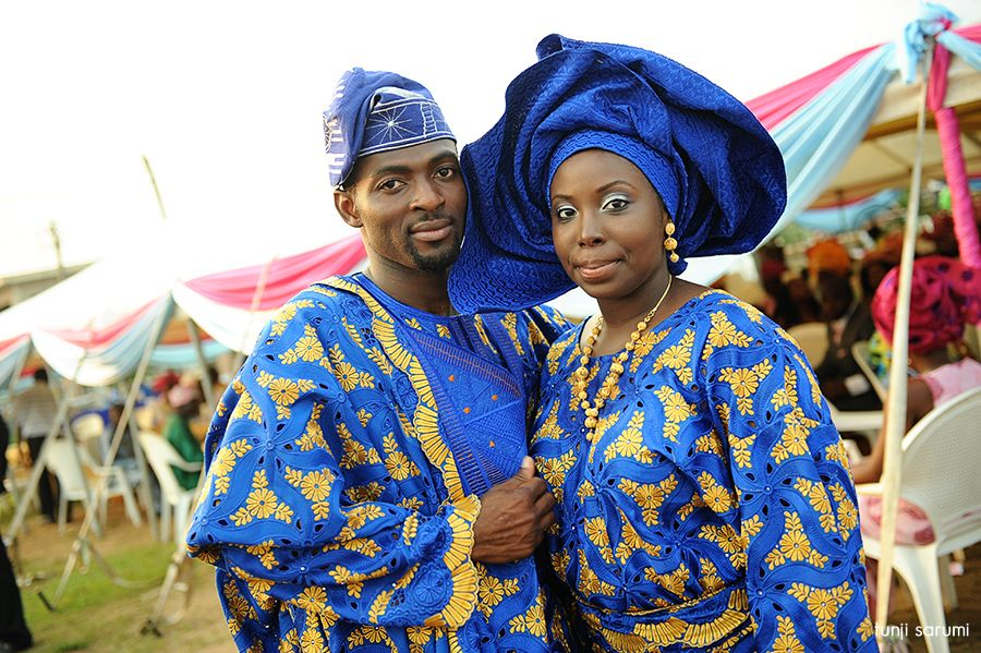 Traditional Yoruba Attire... I Know This Couple. Lovely