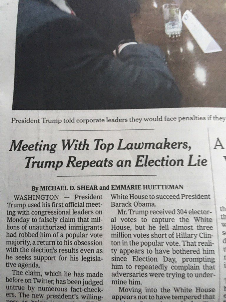 Lawrence O'DonnellVerified account @Lawrence  Jan 24  More   Retweet to thank @nytimes for calling a lie a lie and to encourage them to keep doing it.
