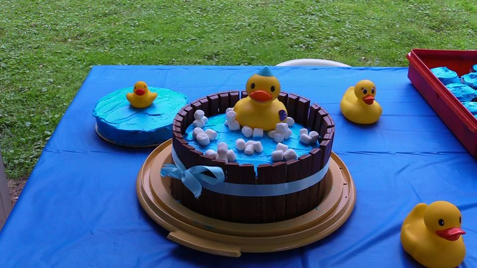 First birthday cake and smash cake ducky themed
