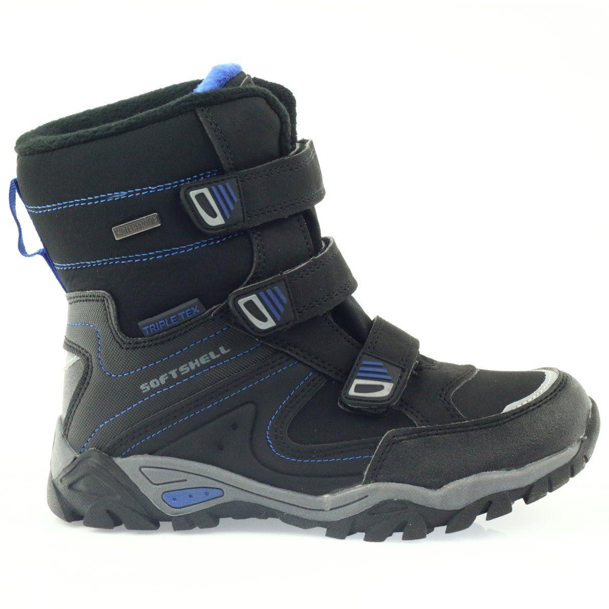 American Club Kozaczki Softshell Z Membrana Czarne 1809 Niebieskie Boots Winter Boots Childrens Boots
